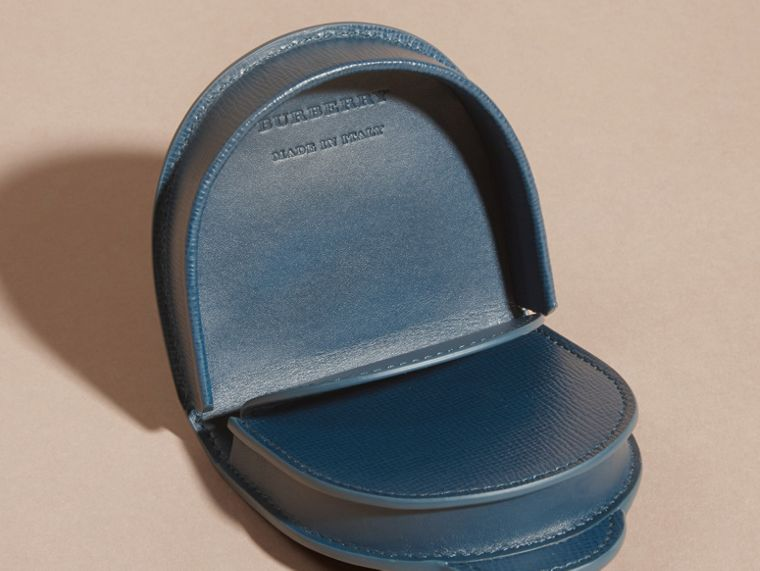 London Leather Coin Case in Mineral Blue - cell image 4