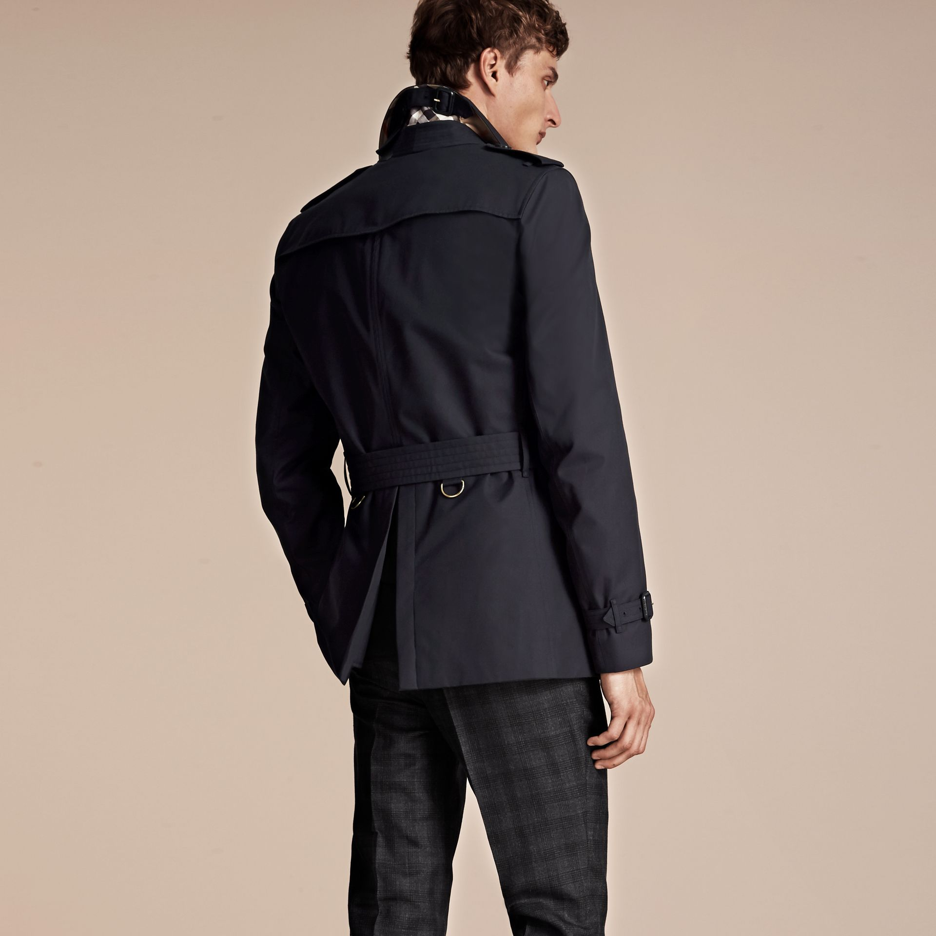 Navy The Chelsea – Short Heritage Trench Coat Navy - gallery image 3