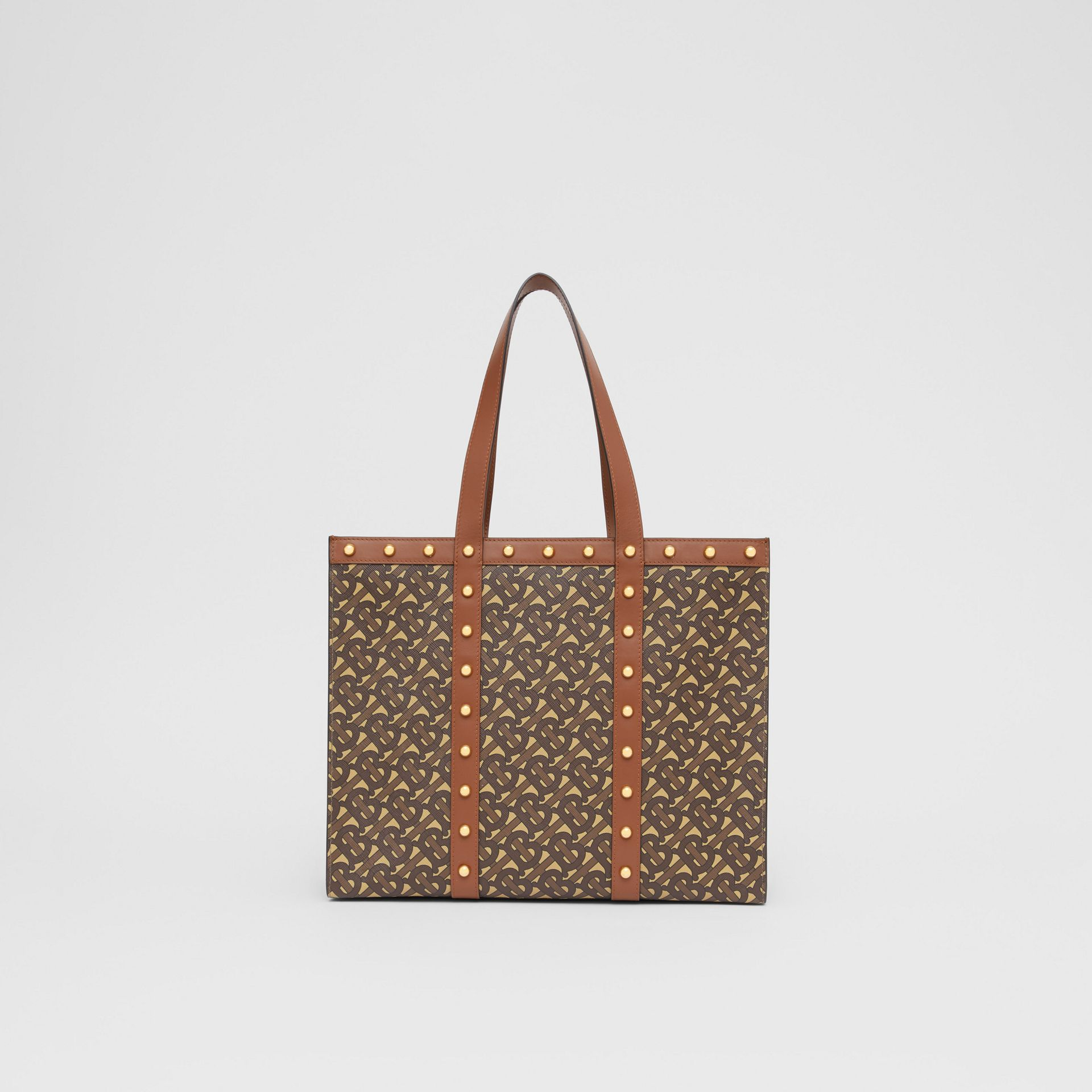 Small Monogram Print E-canvas Tote Bag in Tan | Burberry Hong Kong S.A.R - gallery image 9