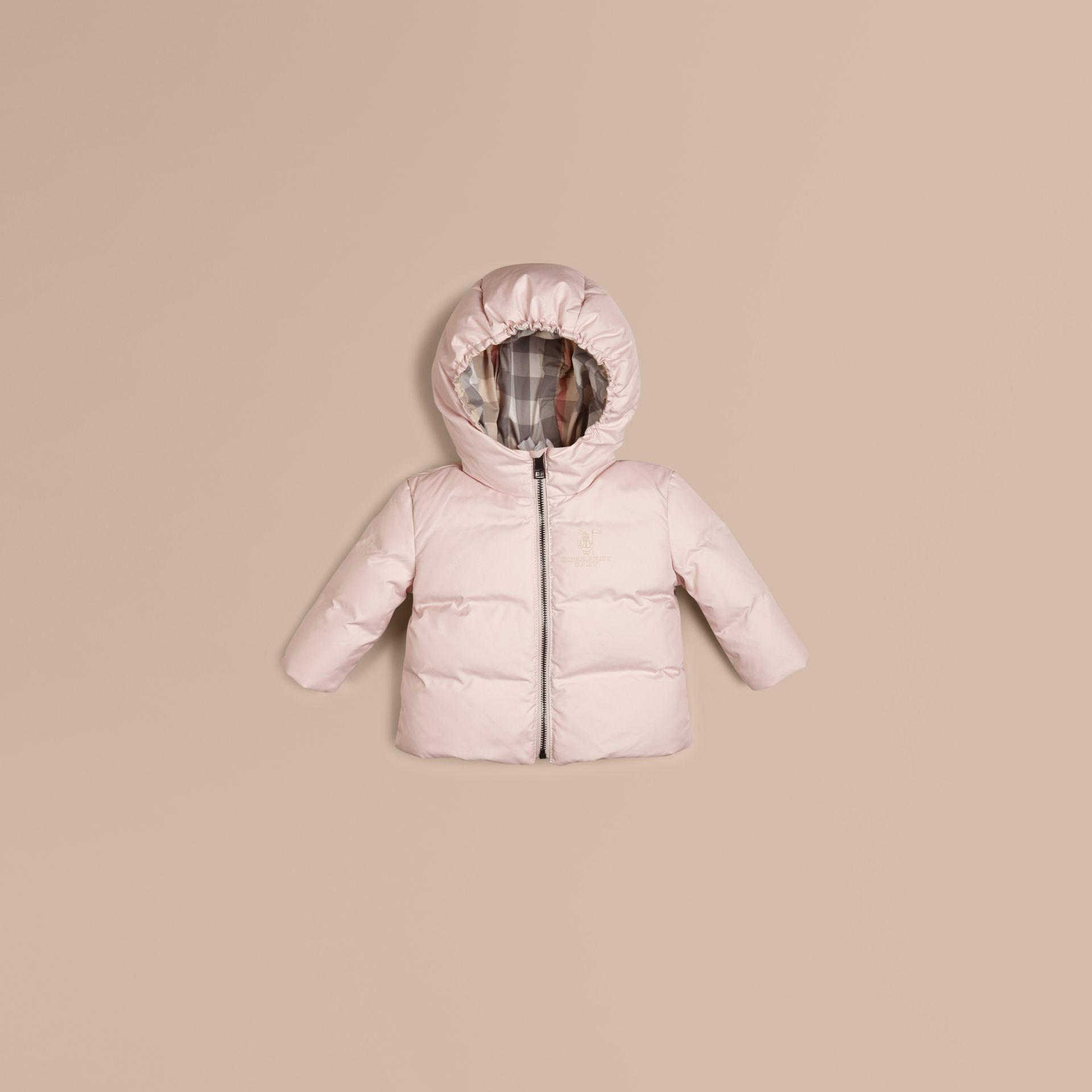 Ice pink Check-Lined Puffer Jacket Ice Pink - gallery image 1