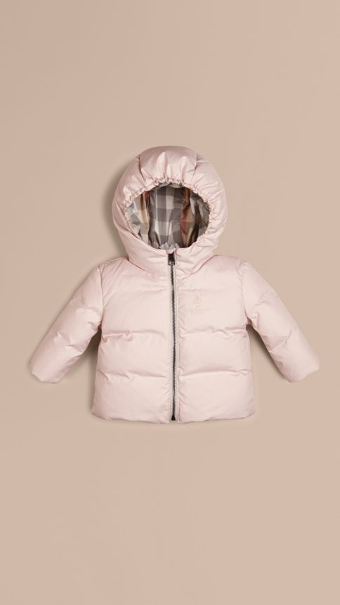 Ice pink Check-Lined Puffer Jacket Ice Pink - Image 1