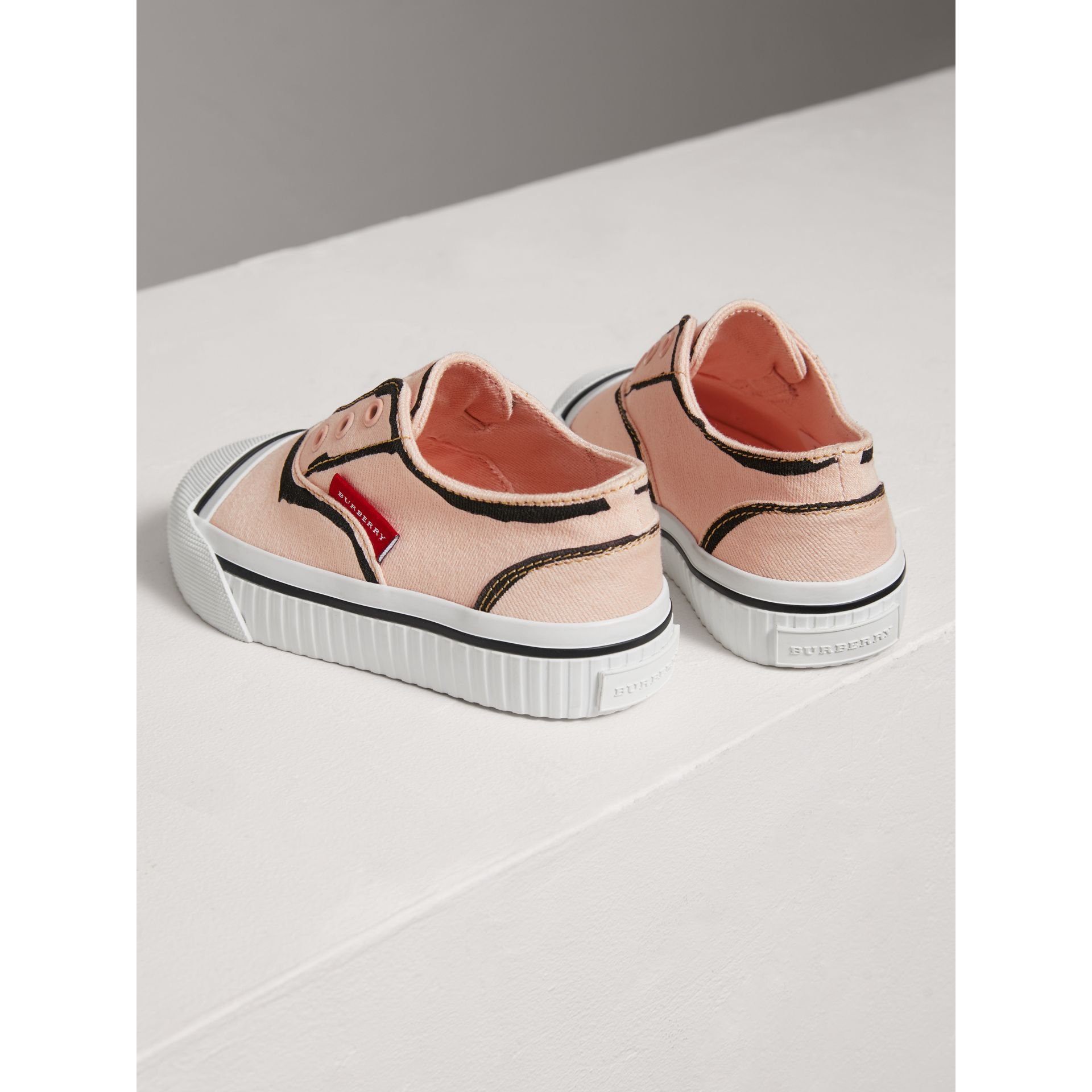 Scribble Print Slip-on Sneakers in Pale Rose Pink | Burberry - gallery image 2