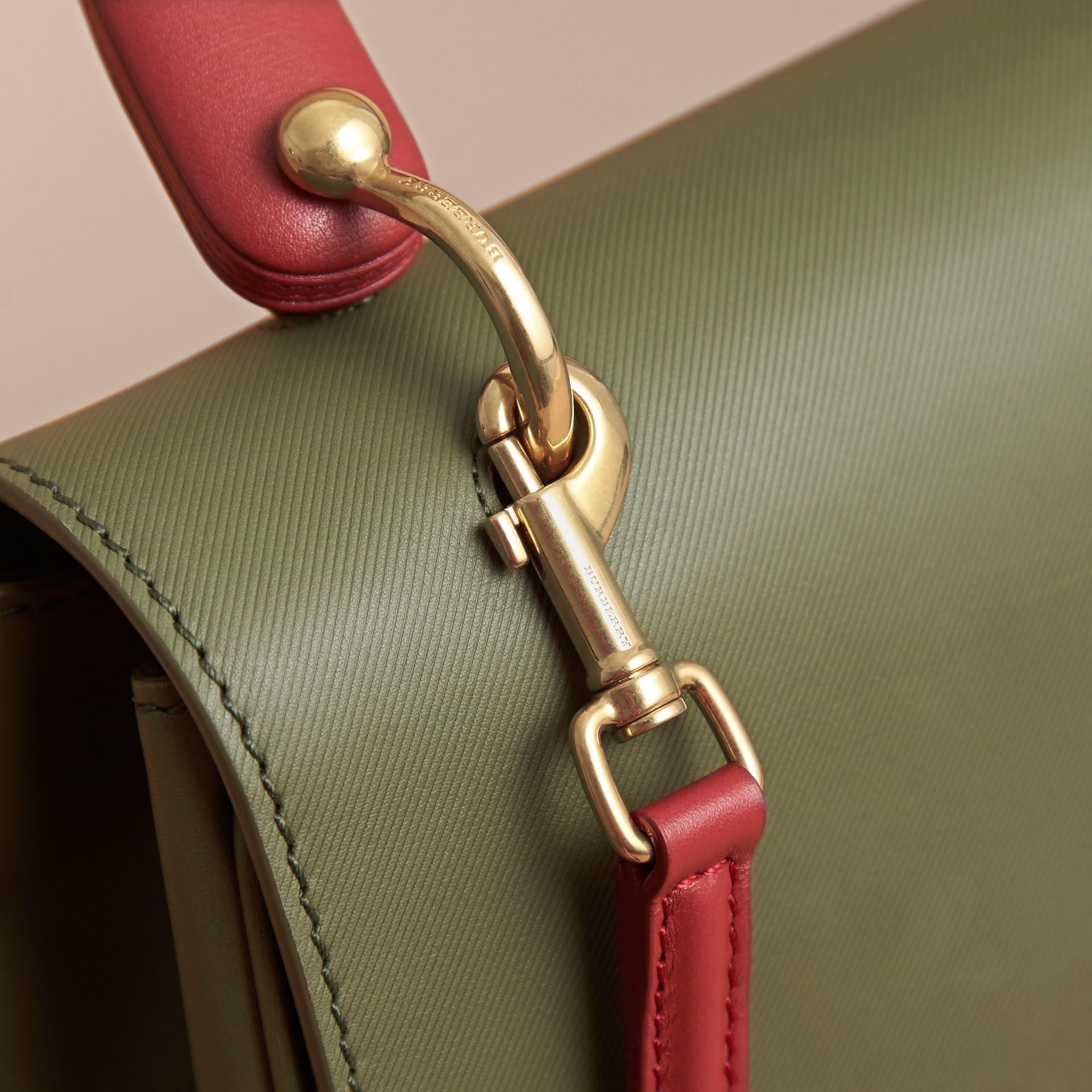 The Medium DK88 Top Handle Bag Moss Green - gallery image 2