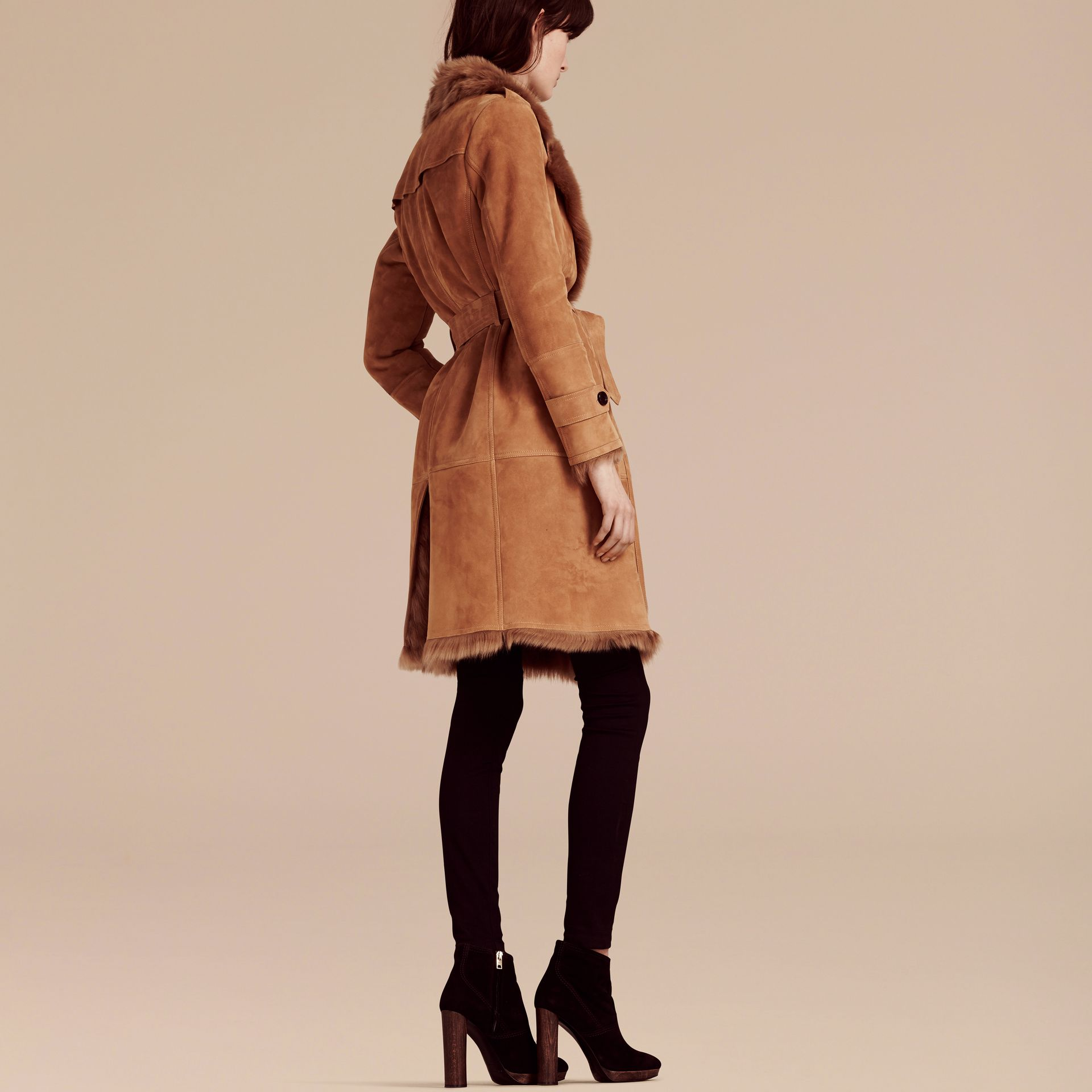 Shearling Wrap Coat - gallery image 2