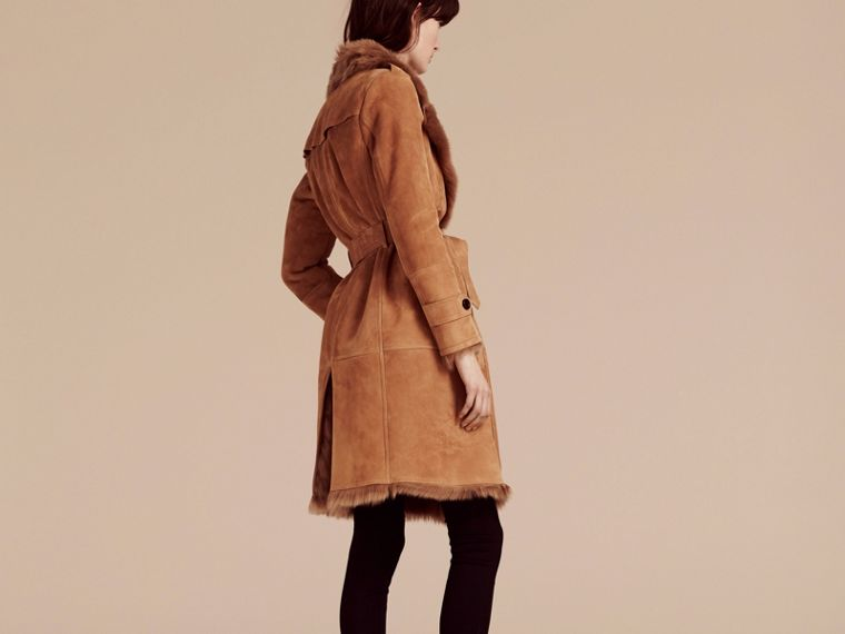 Shearling Wrap Coat - cell image 1