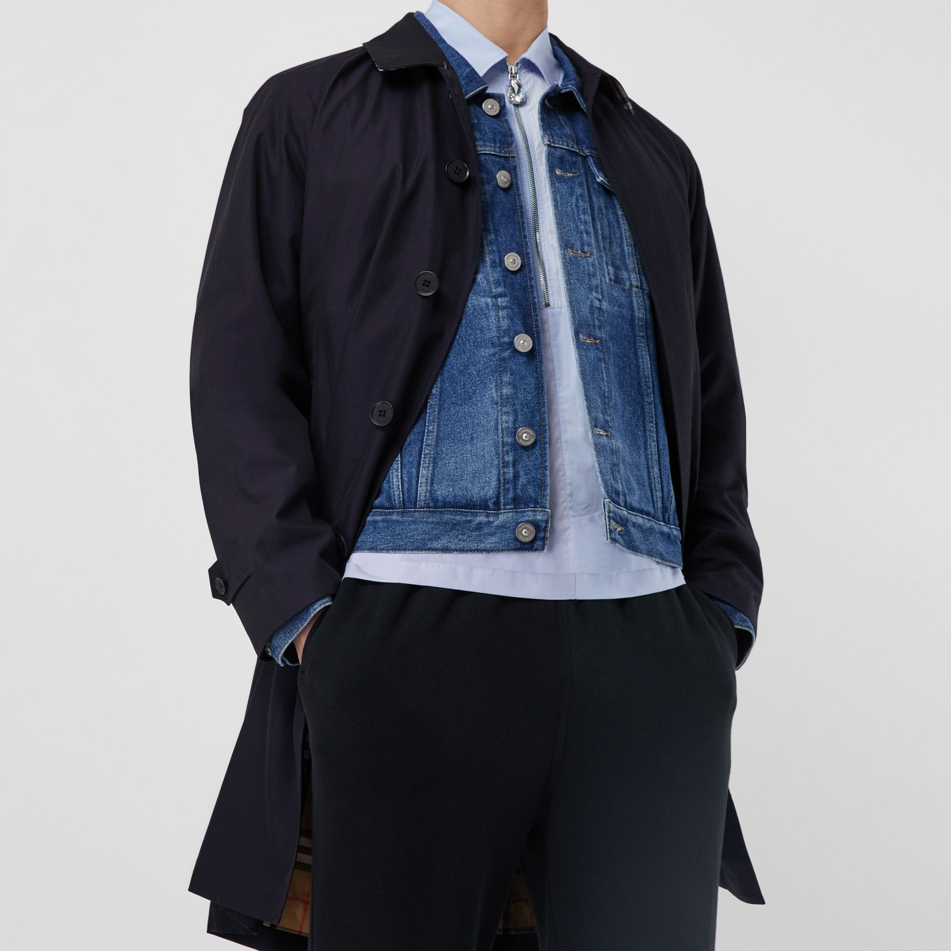 The Camden Car Coat in Blue Carbon - Men | Burberry Hong Kong S.A.R - gallery image 7