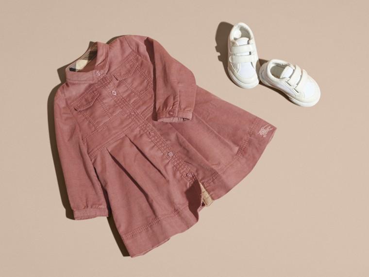 Rose cendré pâle Robe chemise en coton côtelé Rose Cendré Pâle - cell image 4