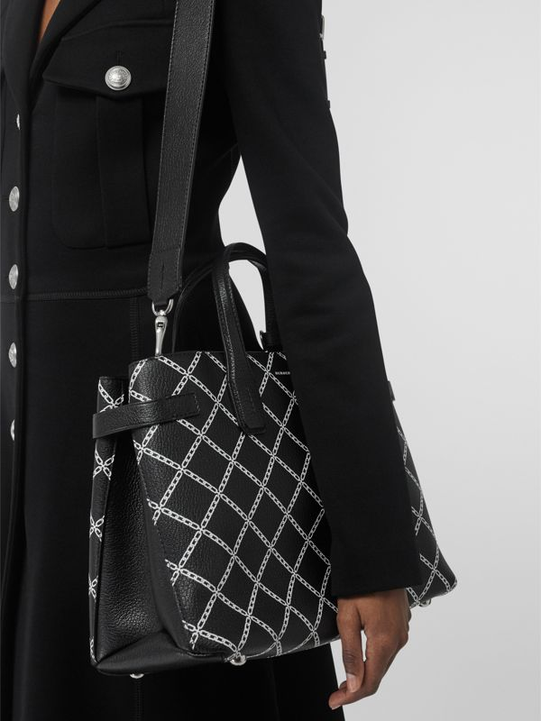 The Medium Banner in Link Print Leather in Black - Women | Burberry United States - cell image 3