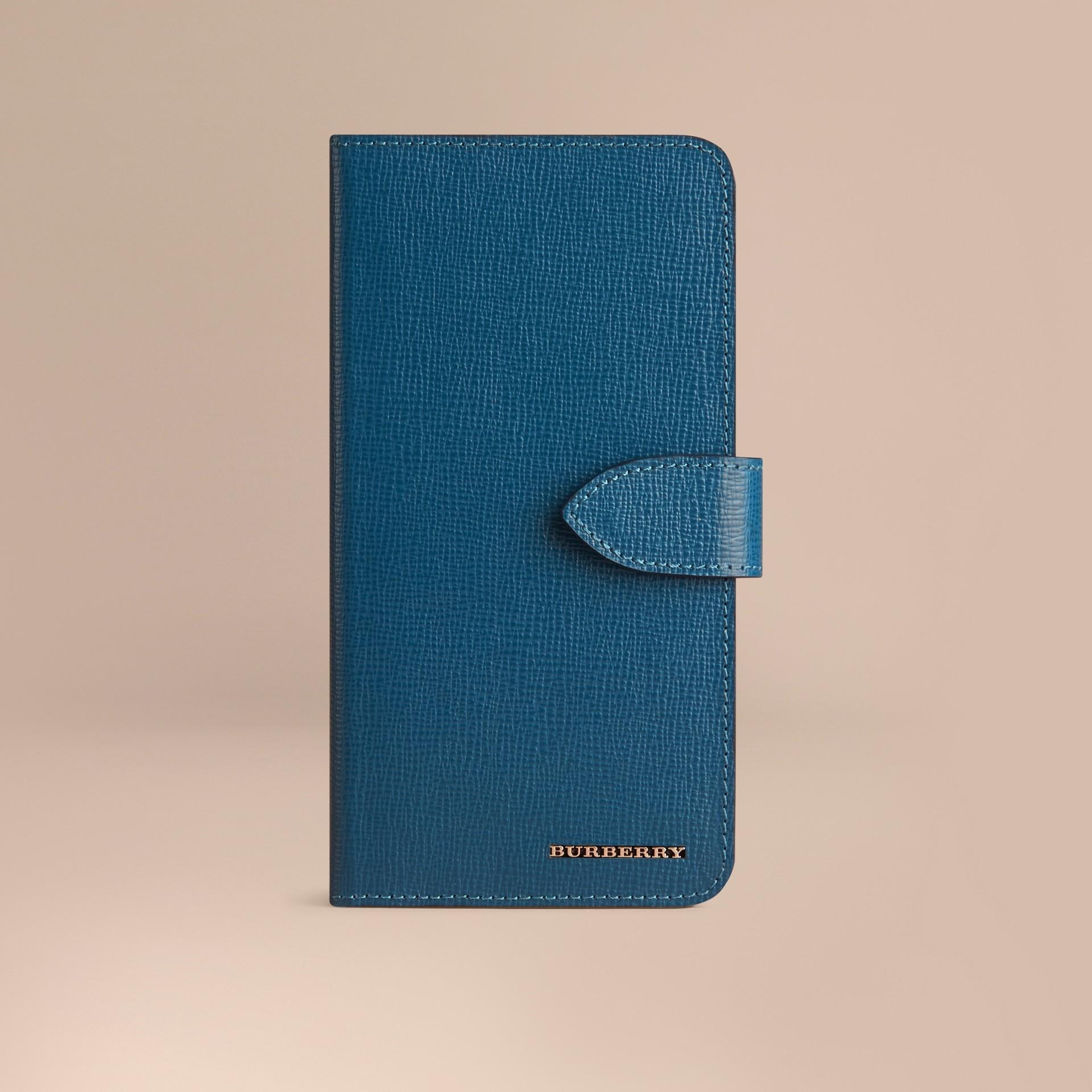 Bleu minéral Étui à rabat pour iPhone6Plus en cuir London Bleu Minéral - photo de la galerie 1