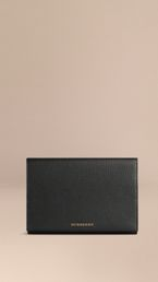 Grainy Leather Travel Wallet