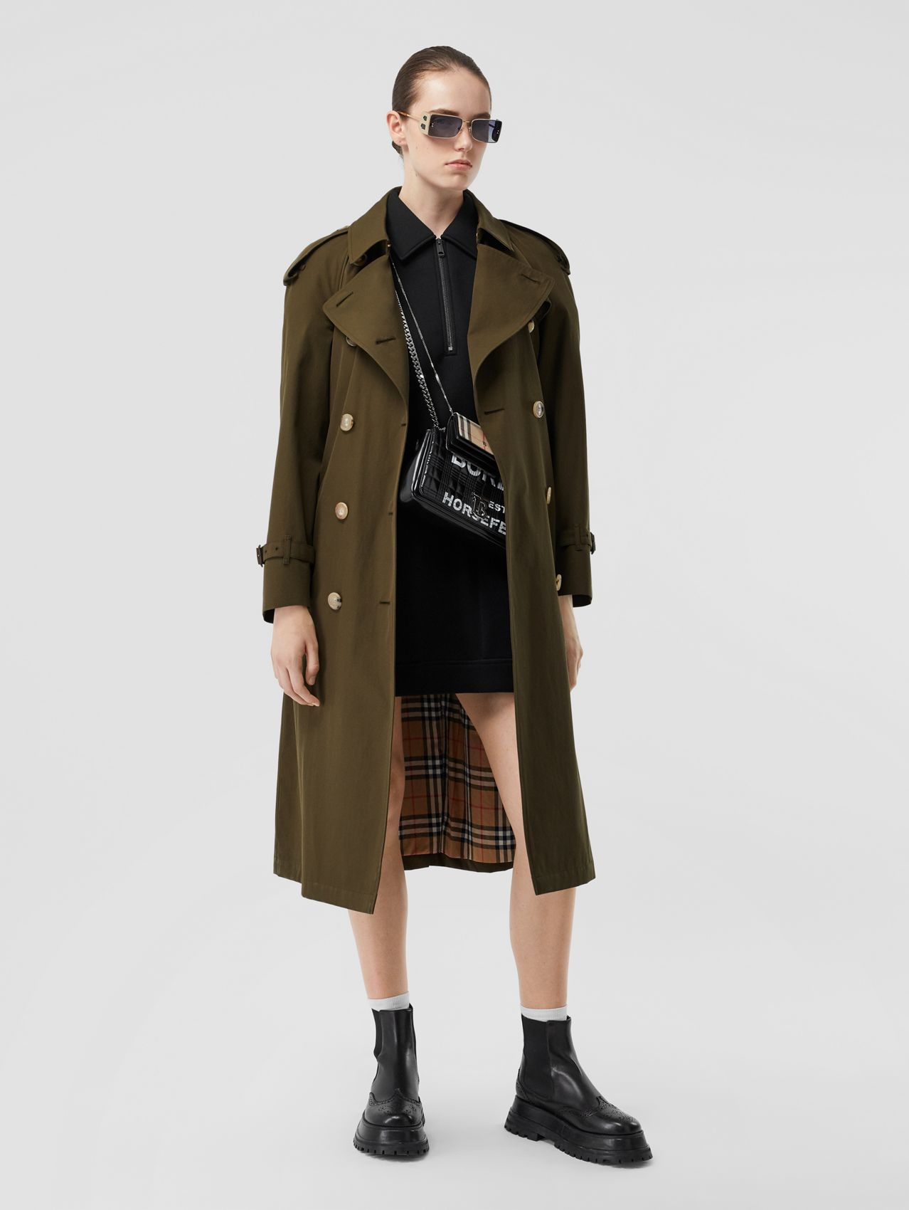The Long Westminster Heritage Trench Coat (Dark Military Khaki)