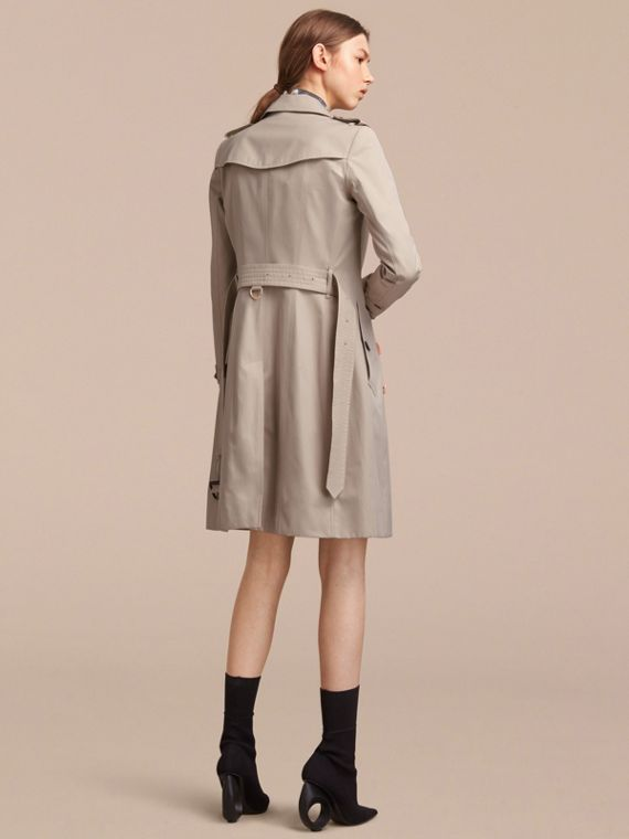 Resin Button Cotton Gabardine Trench Coat - cell image 2