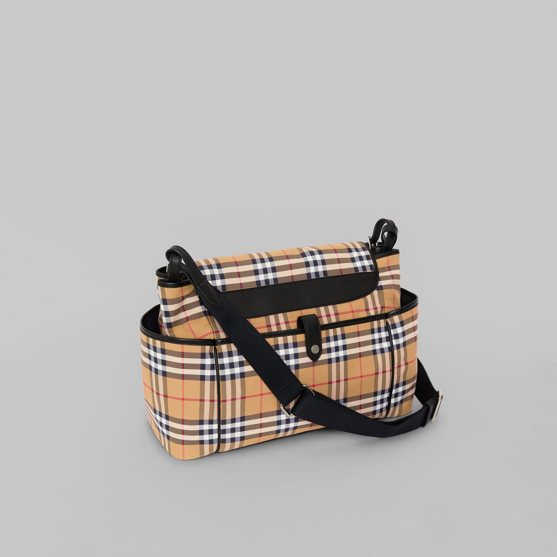 Vintage Check Baby Changing Shoulder Bag in Antique Yellow/black - Children | Burberry Australia - gallery image 2