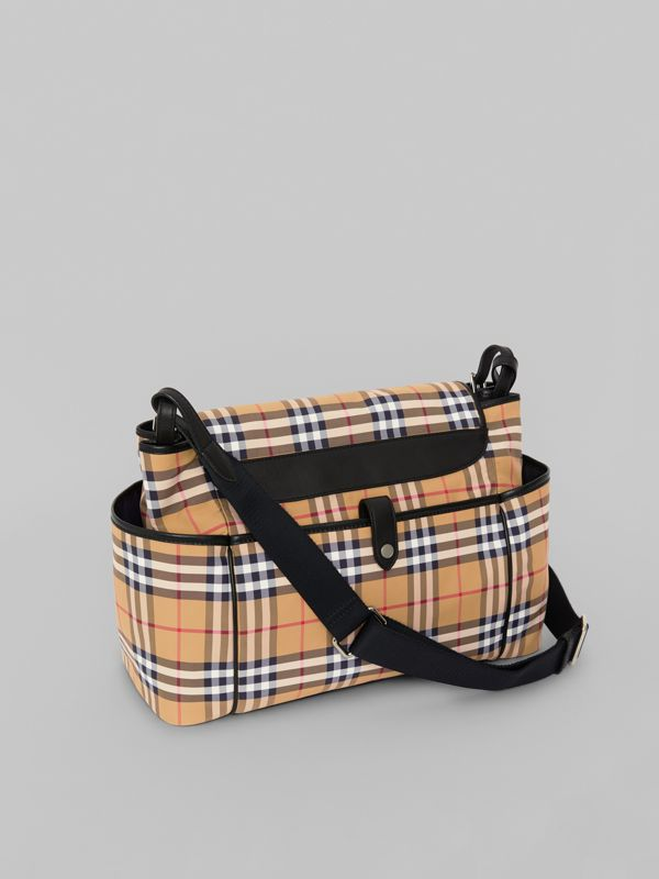 Vintage Check Baby Changing Shoulder Bag in Antique Yellow/black - Children | Burberry Australia - cell image 2
