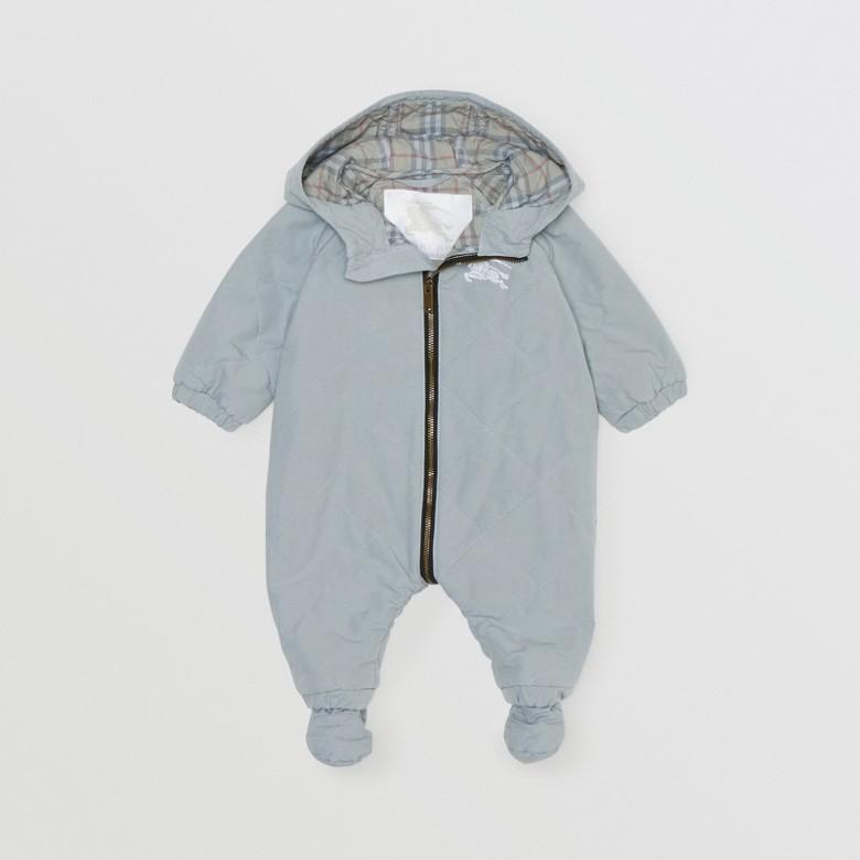 Burberry - Mono enterizo en algodón acolchado a rombos - 3