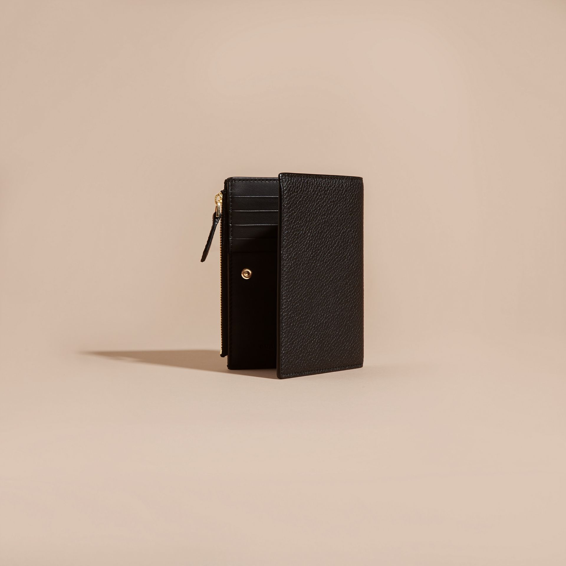 Leather Passport Wallet in Black - gallery image 4