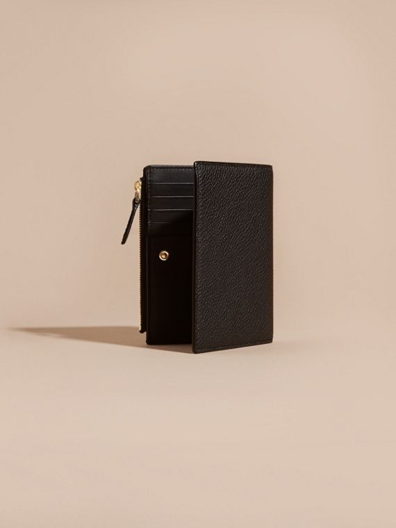 Leather Passport Wallet in Black | Burberry - cell image 3