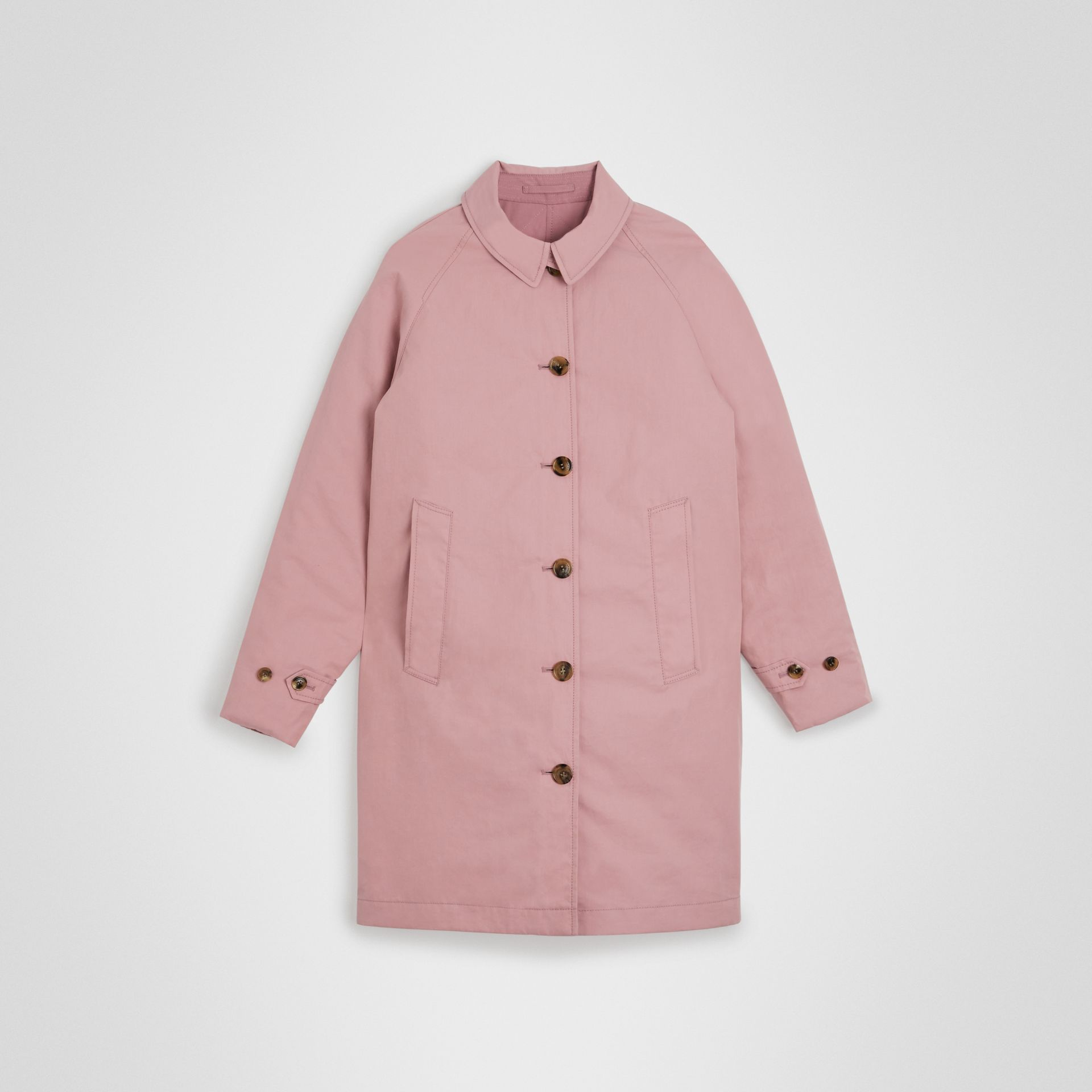Reversible Tropical Gabardine Car Coat in Chalk Pink | Burberry Canada - gallery image 0