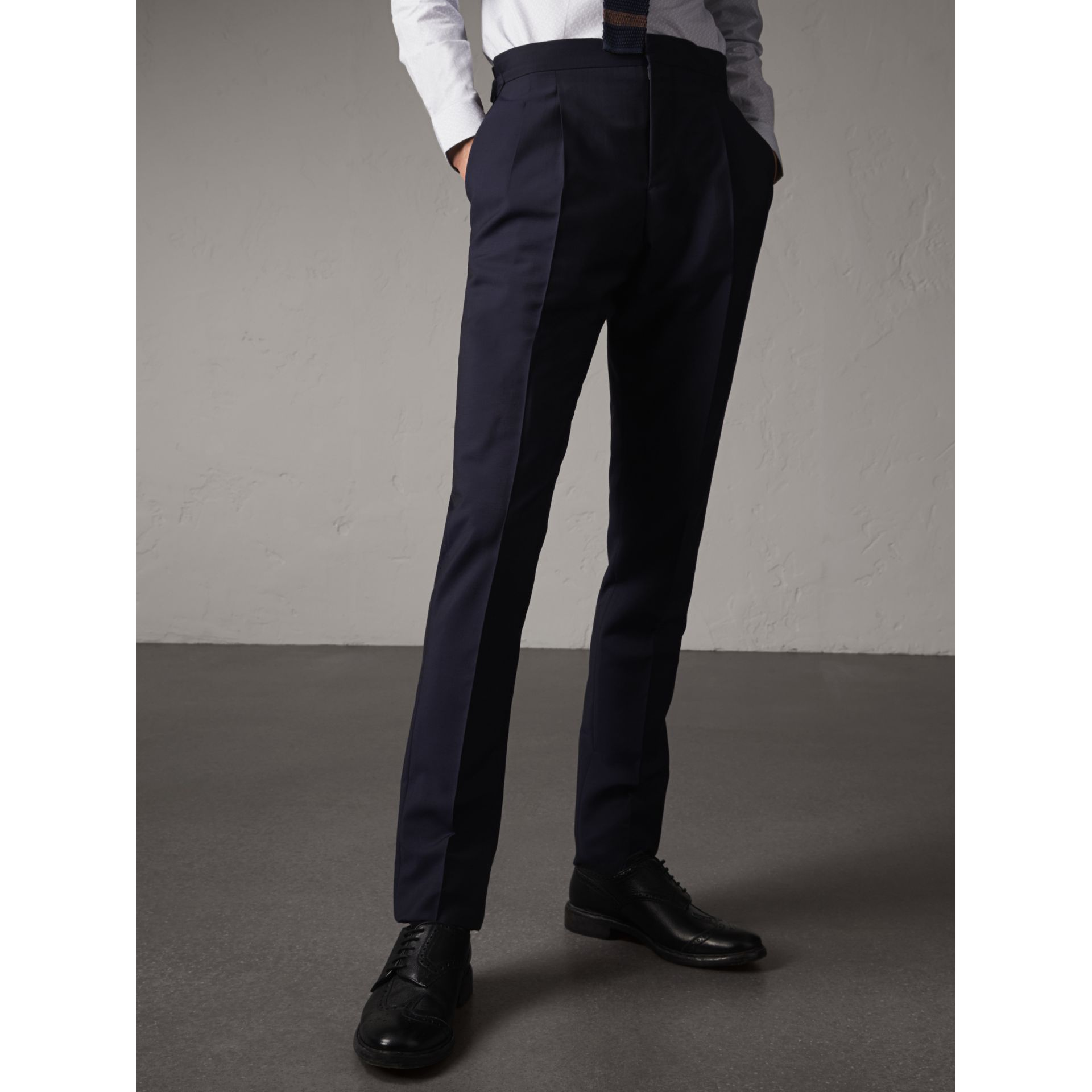 Soho Fit Wool Mohair Suit in Dark Navy - Men | Burberry - gallery image 9