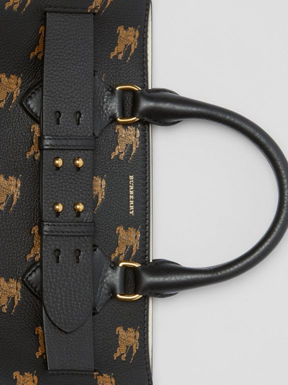 The Medium Equestrian Knight Leather Belt Bag in Black - Women | Burberry United States - cell image 1