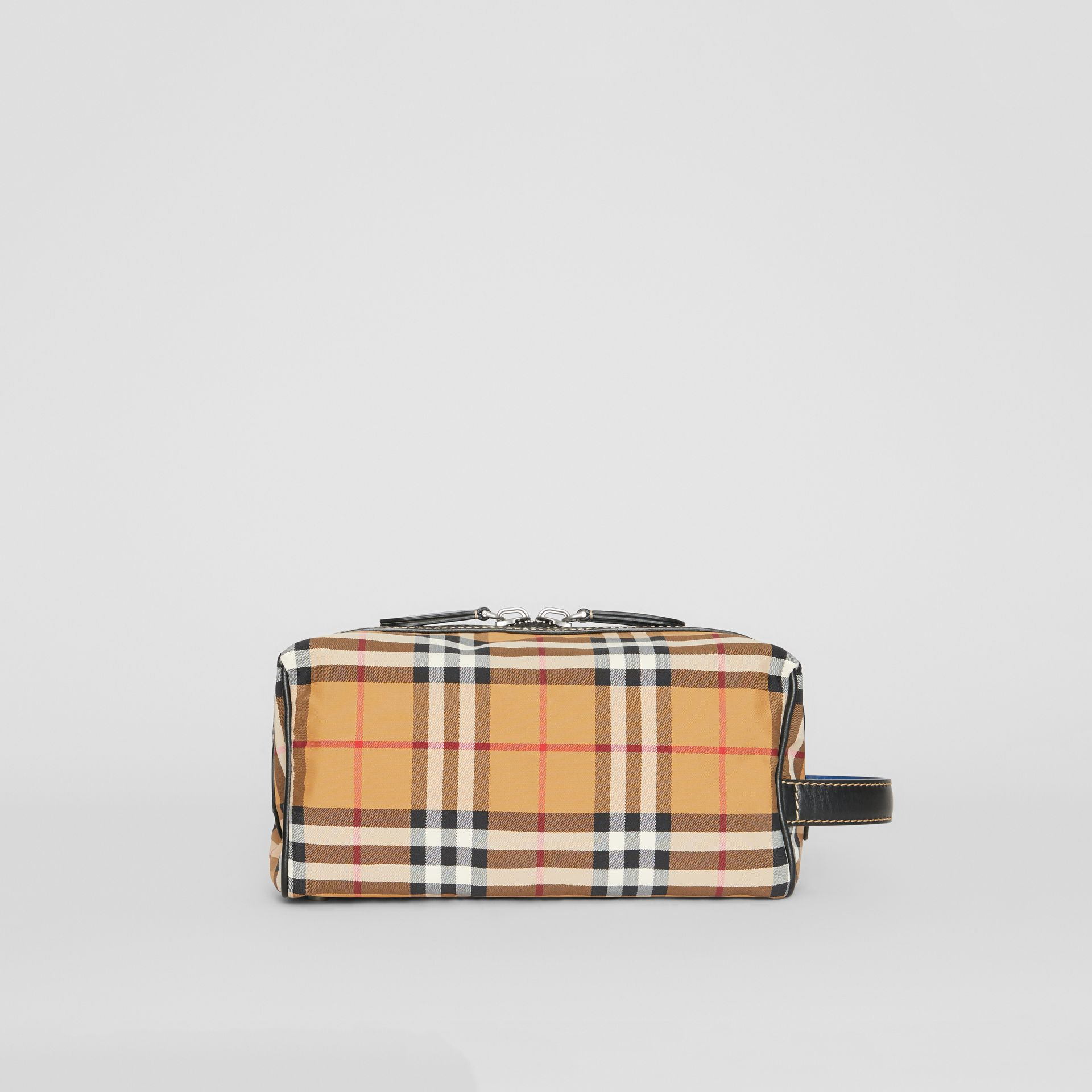Vintage Check and Leather Pouch in Antique Yellow - Men | Burberry Australia - gallery image 2
