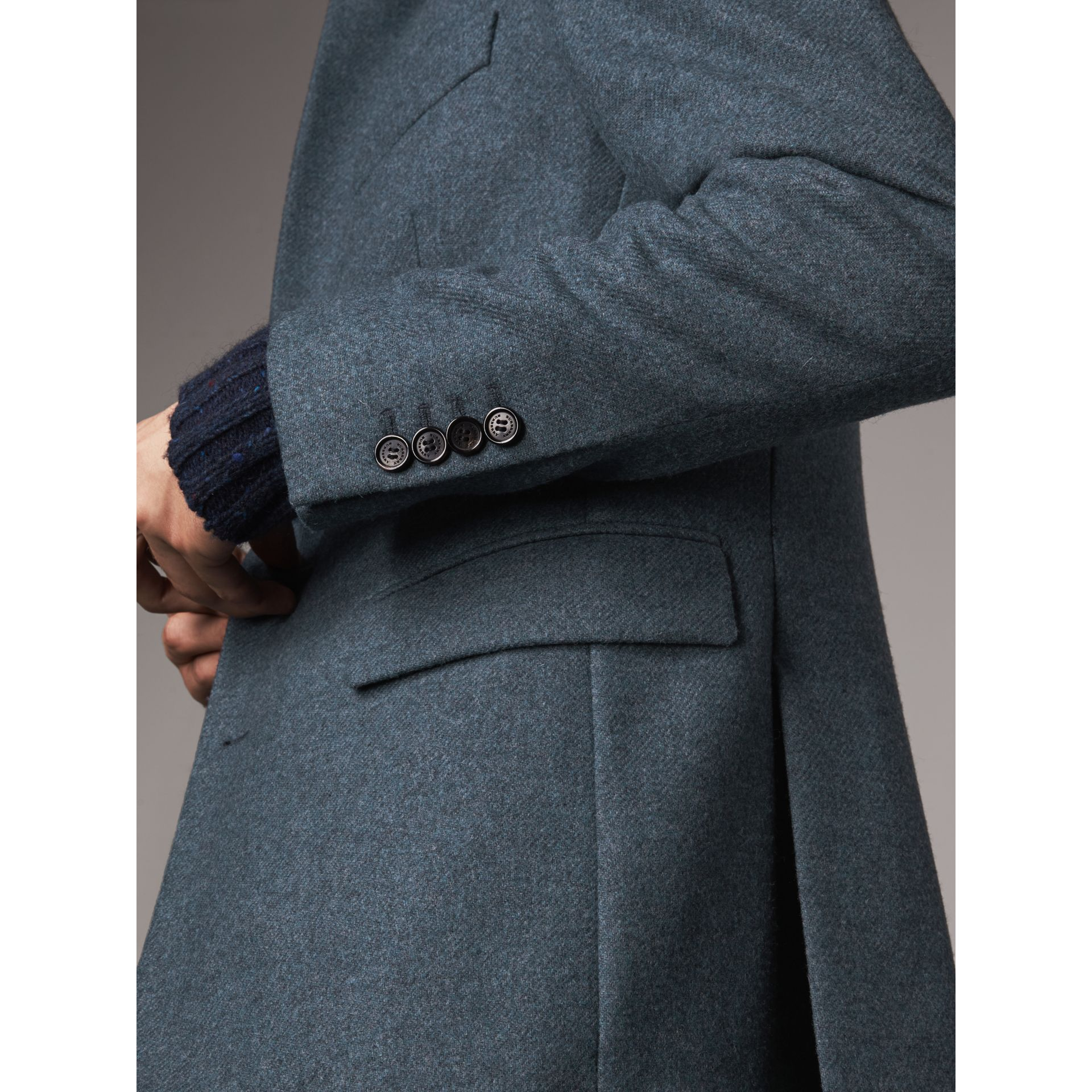Soho Fit Shetland Wool Tailored Jacket in Dark Airforce Blue - Men | Burberry - gallery image 5