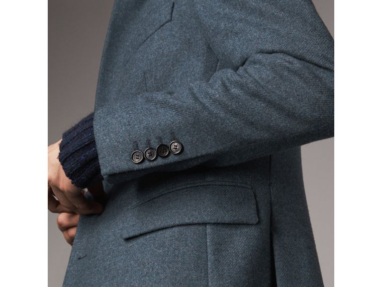 Soho Fit Shetland Wool Tailored Jacket in Dark Airforce Blue - Men | Burberry - cell image 4