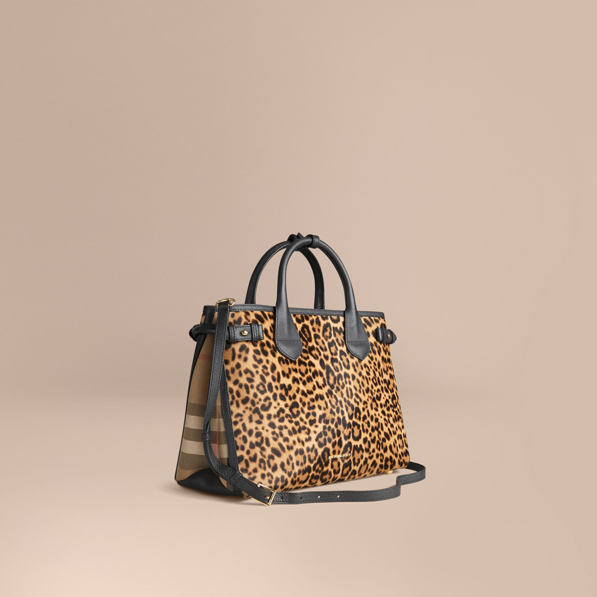 Camel The Medium Banner in Animal Print Calfskin - gallery image 1