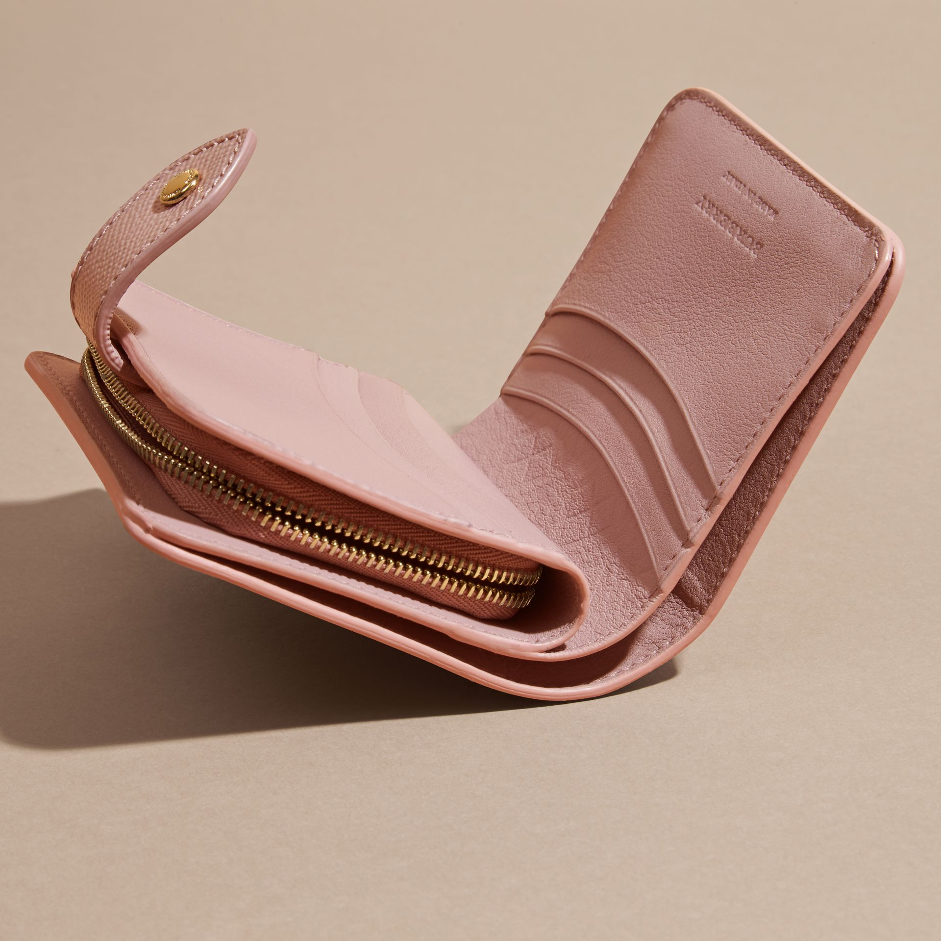 Patent London Leather Wallet in Ash Rose - gallery image 5