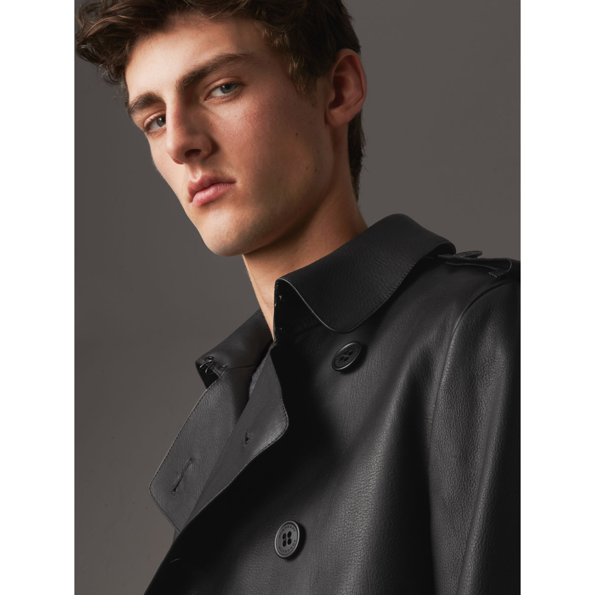 Lambskin Trench Coat - Men | Burberry - gallery image 5