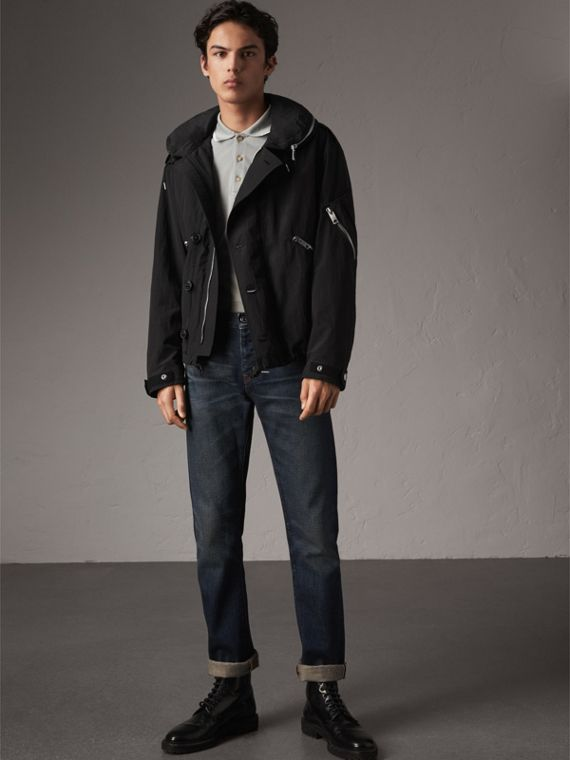 Rainproof Flyweight Jacket with Packaway Hood - Men | Burberry