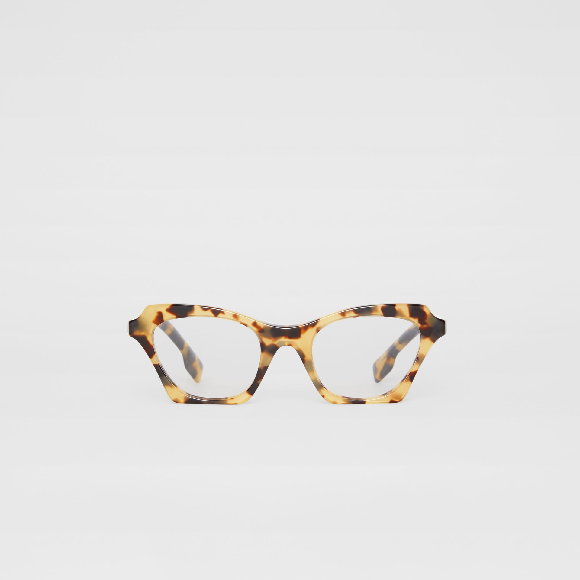 Butterfly Optical Frames in Tortoise Shell - Women | Burberry - gallery image 0