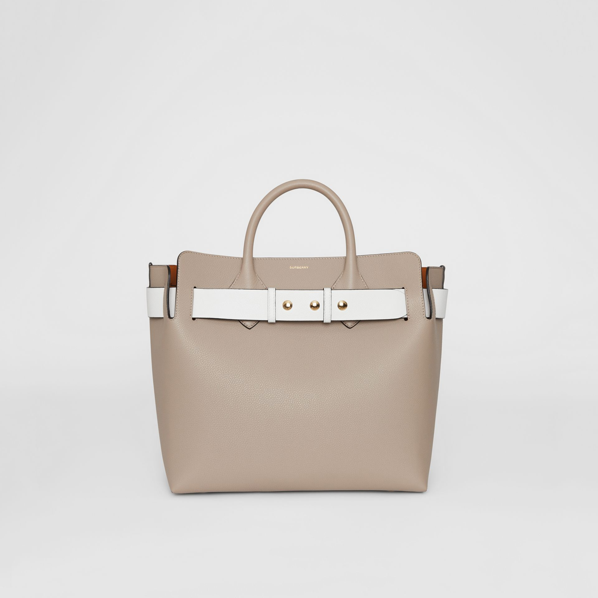 The Medium Tri-tone Leather Triple Stud Belt Bag in Mineral Grey - Women | Burberry - gallery image 0
