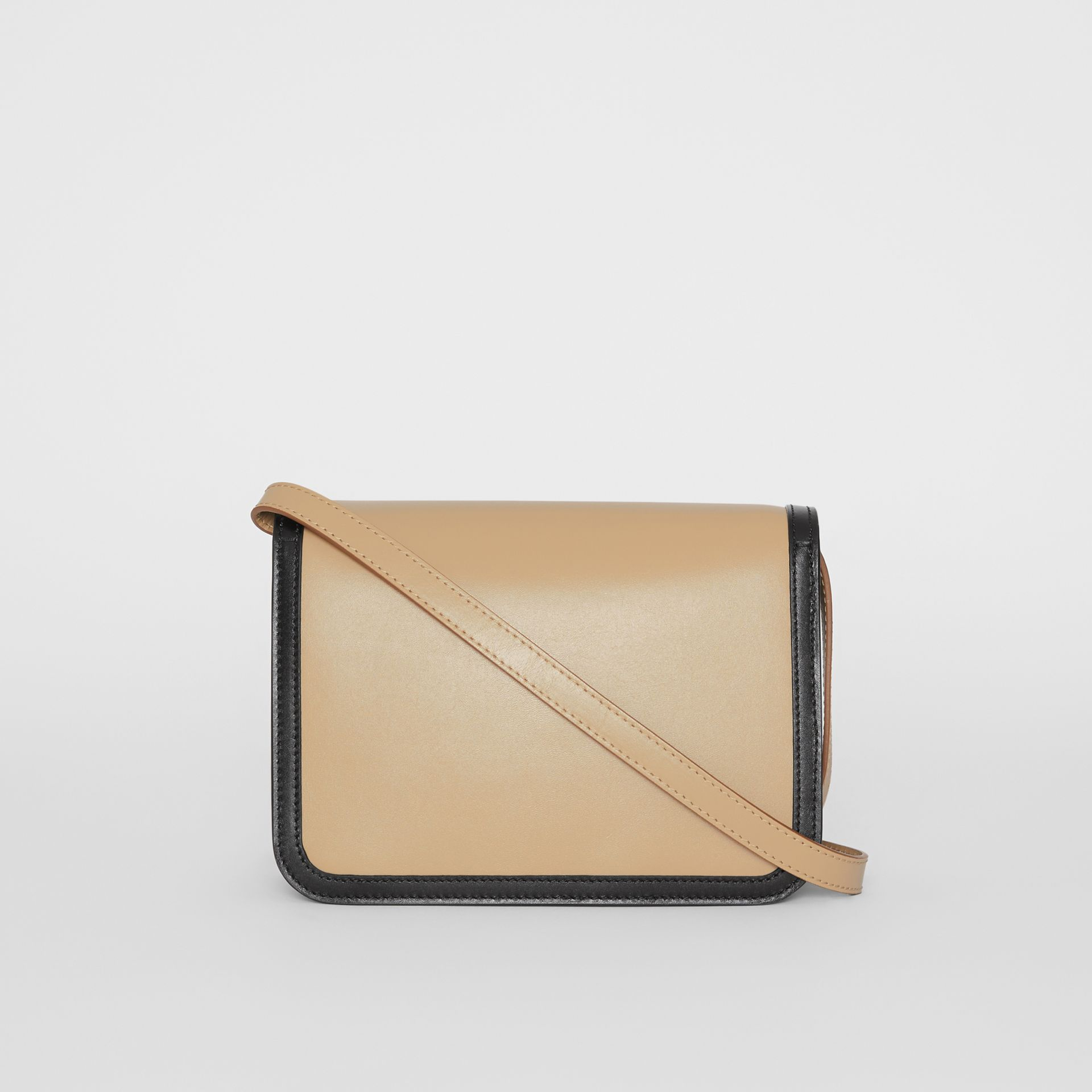 Small Two-tone Leather TB Bag in Honey/black - Women | Burberry - gallery image 7