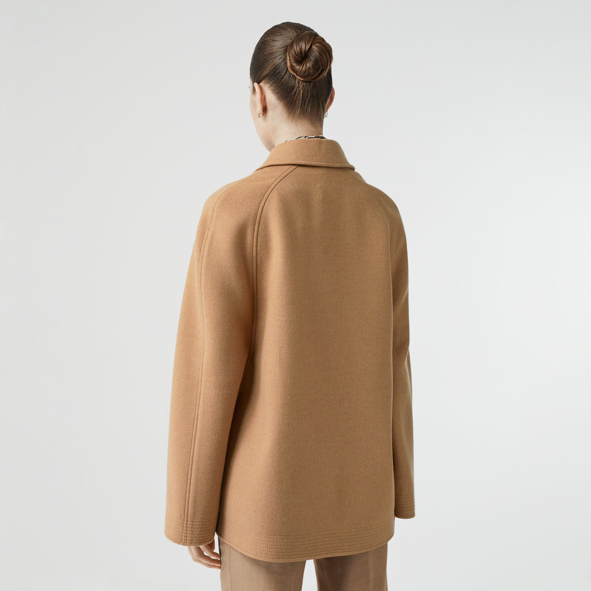 Double-faced Camel Hair Belted Cape - Women | Burberry Singapore - gallery image 2