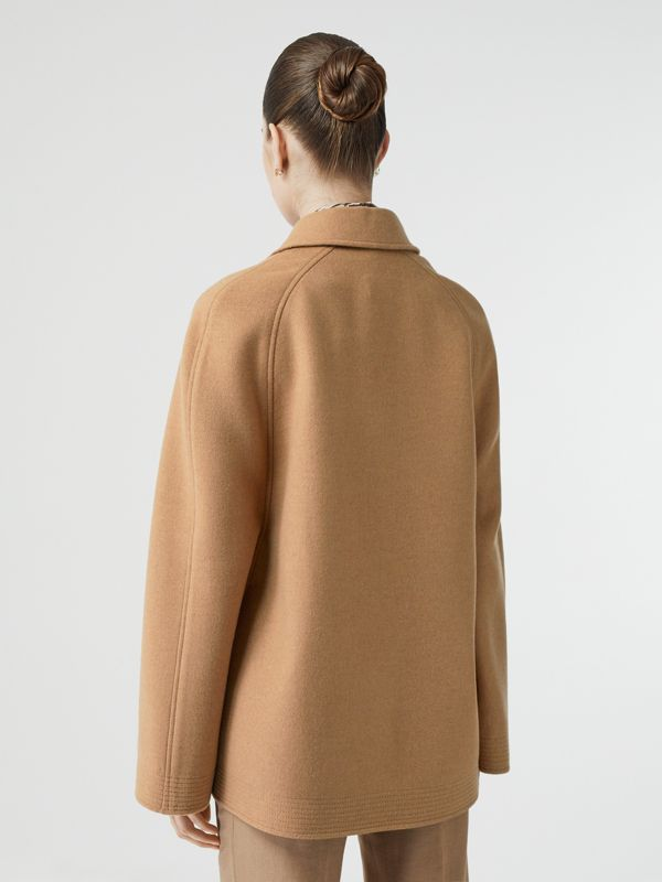 Double-faced Camel Hair Belted Cape - Women | Burberry - cell image 2