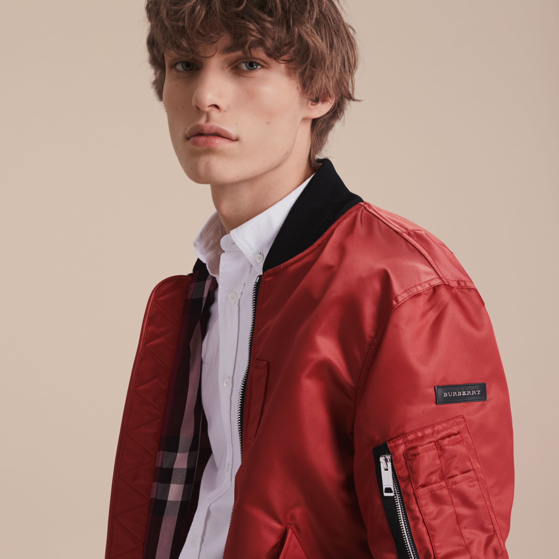 Technical Bomber Jacket in Rose Pink - gallery image 5