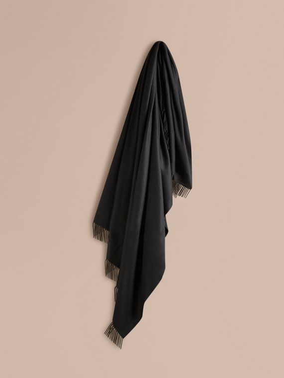 Cashmere Blanket in Black | Burberry Singapore
