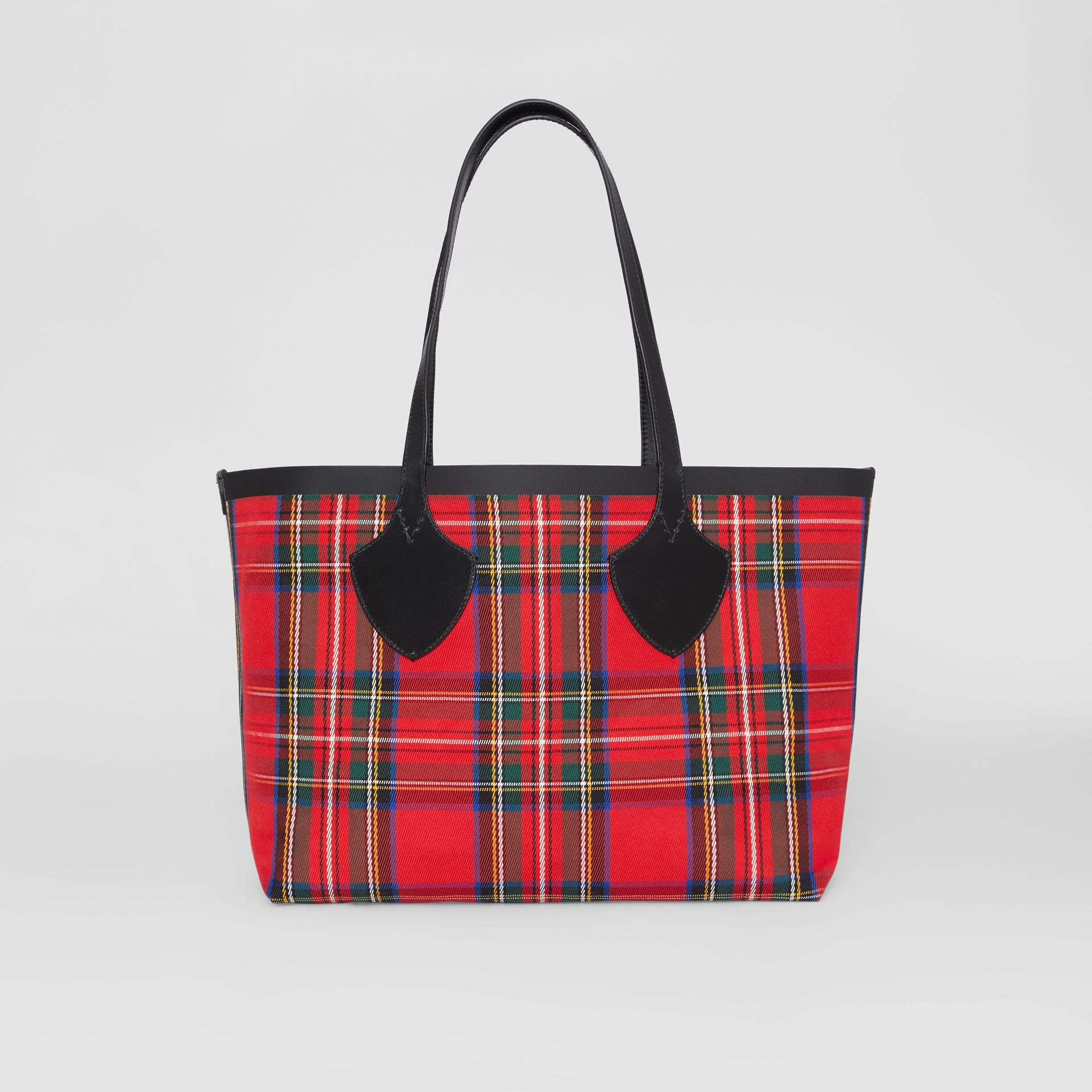 Sac tote The Giant moyen en Vintage check (Jaune Antique/rouge Vif) | Burberry - photo de la galerie 9