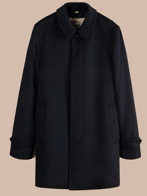 Virgin Wool Cashmere Car Coat Navy - cell image 3