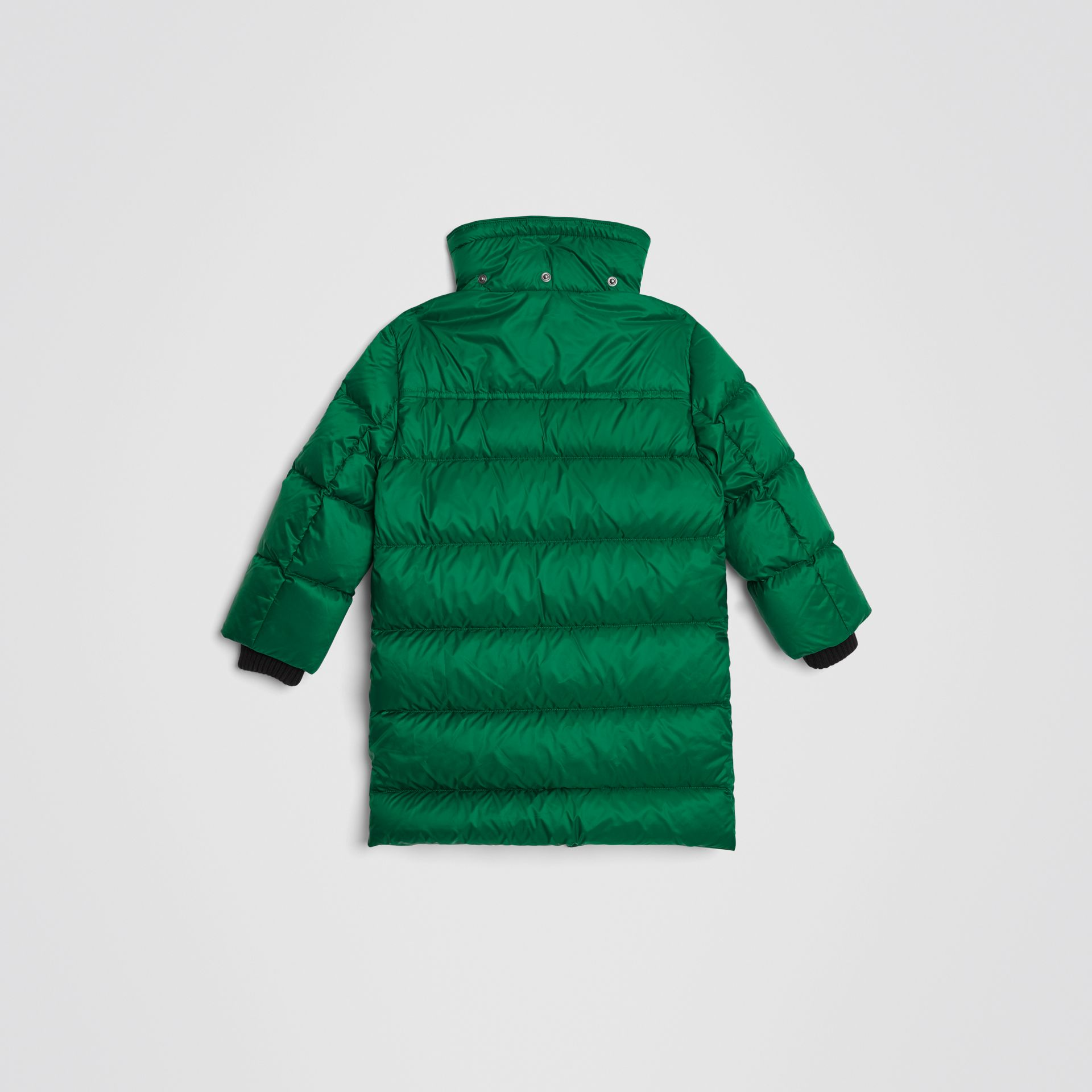 Detachable Hood Down-filled Puffer Coat in Dark Pigment Green | Burberry - gallery image 3