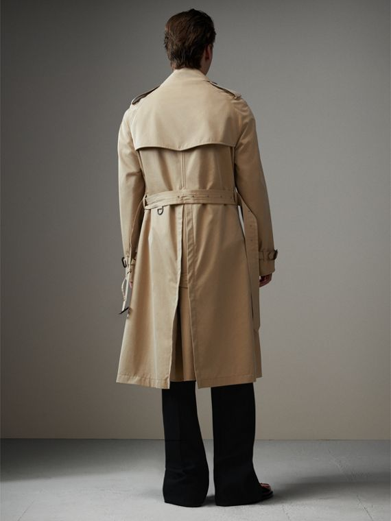 Tartan-lined Cotton Gabardine Trench Coat in Honey - Men | Burberry - cell image 2