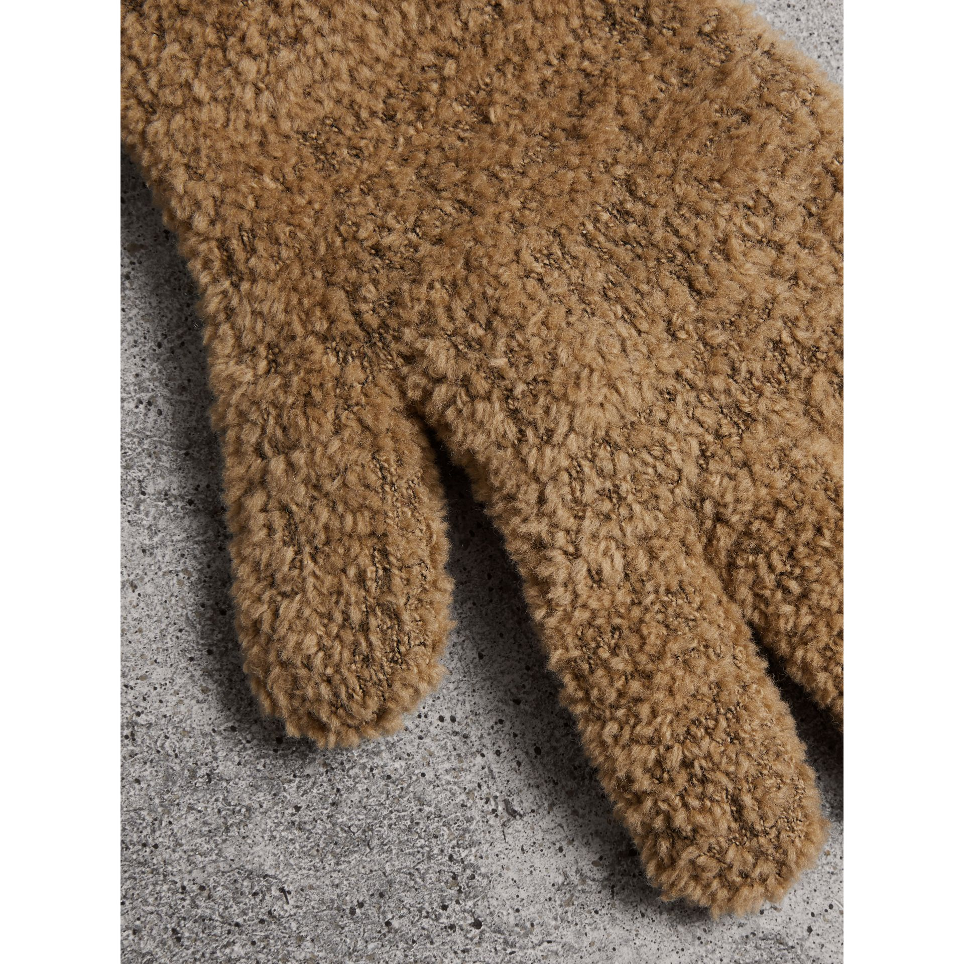 Chenille Longline Gloves in Camel - Women | Burberry United Kingdom - gallery image 1