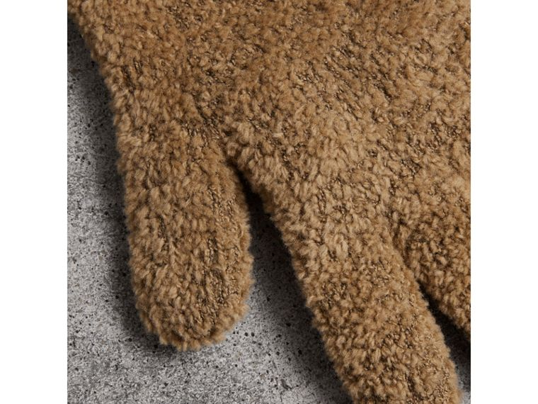Chenille Longline Gloves in Camel - Women | Burberry - cell image 1