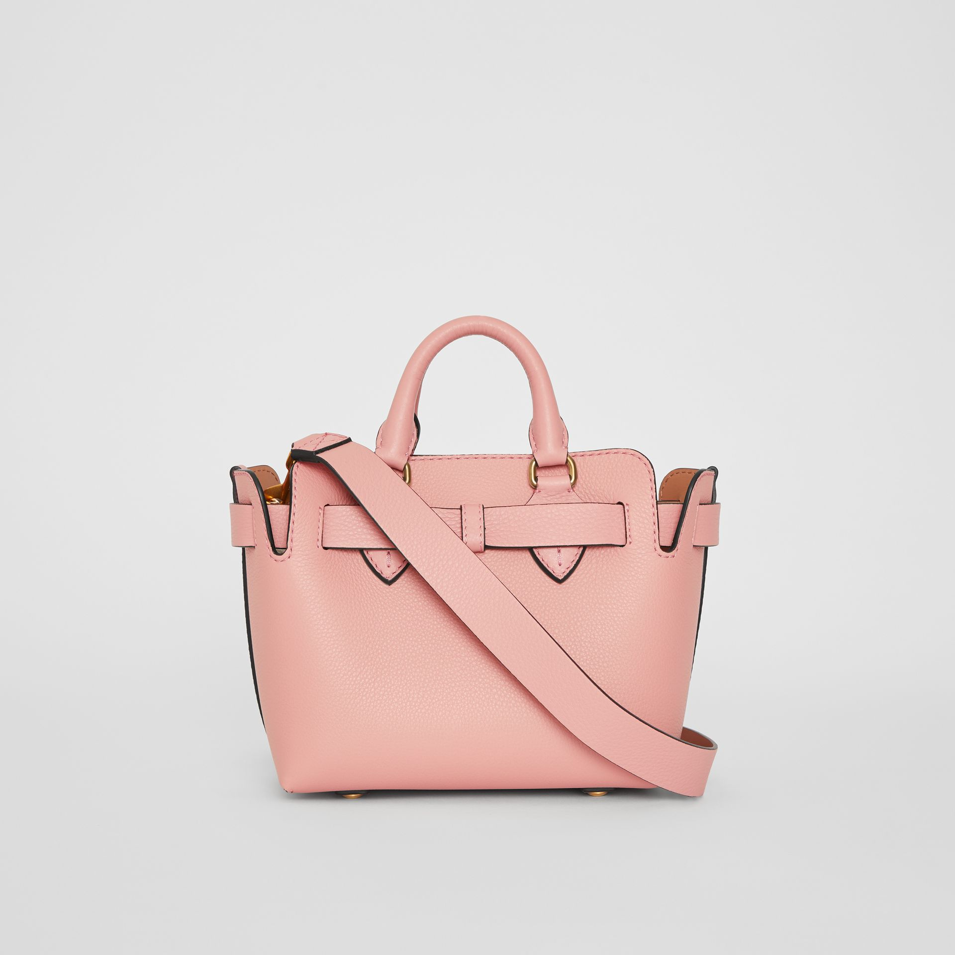 The Mini Leather Belt Bag in Ash Rose - Women | Burberry - gallery image 7