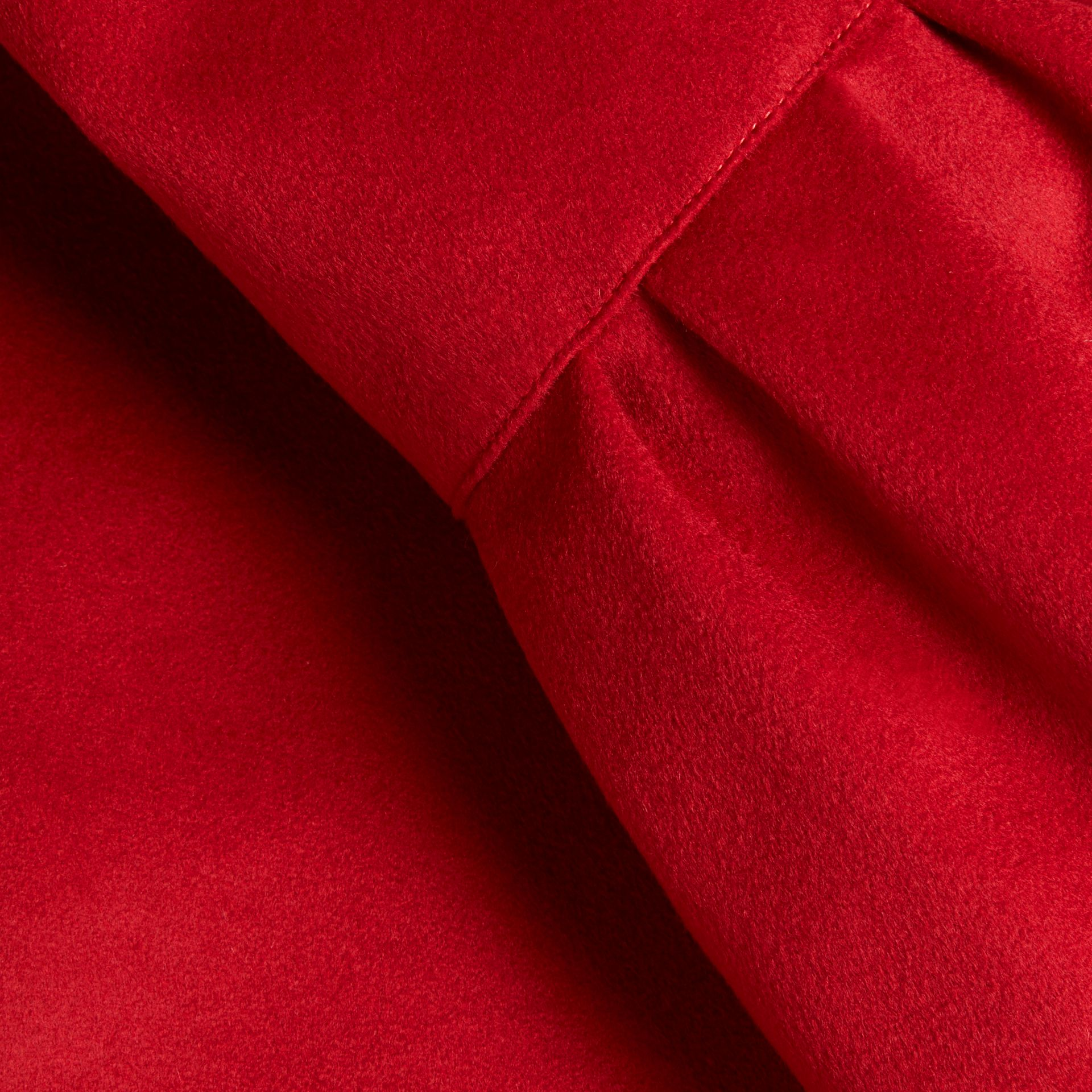 Parade red Tailored Wool Cashmere Coat with Bell Sleeves Parade - gallery image 2