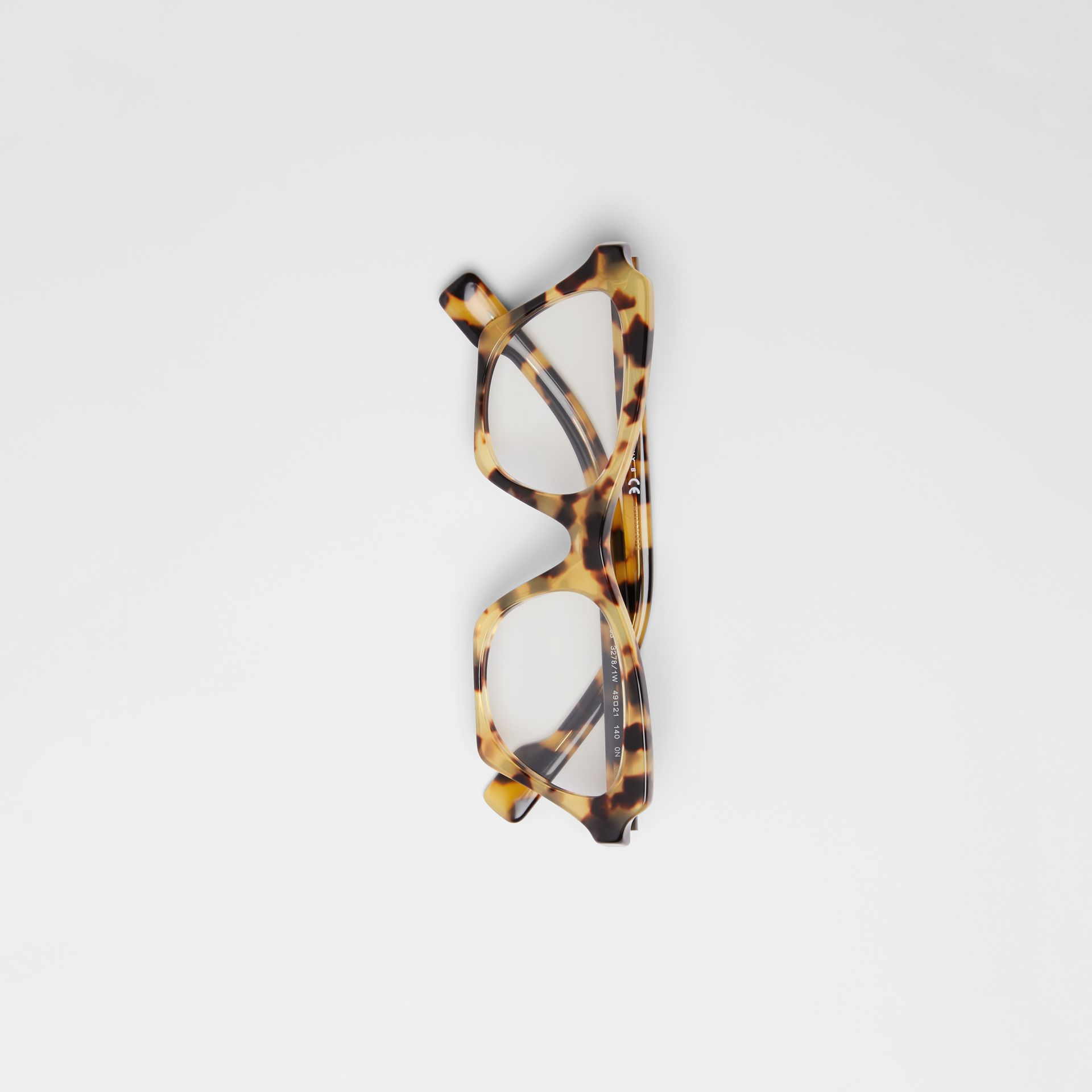 Butterfly Optical Frames in Tortoise Shell - Women | Burberry - gallery image 3