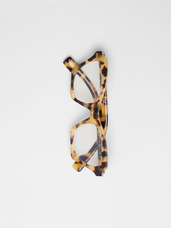 Butterfly Optical Frames in Tortoise Shell - Women | Burberry - cell image 3