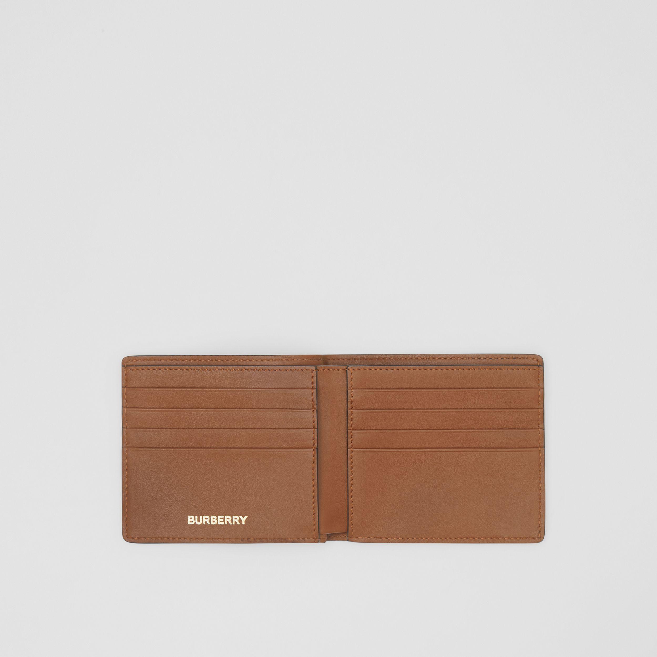 Monogram Print E-canvas International Bifold Wallet in Bridle Brown - Men | Burberry United Kingdom - 4