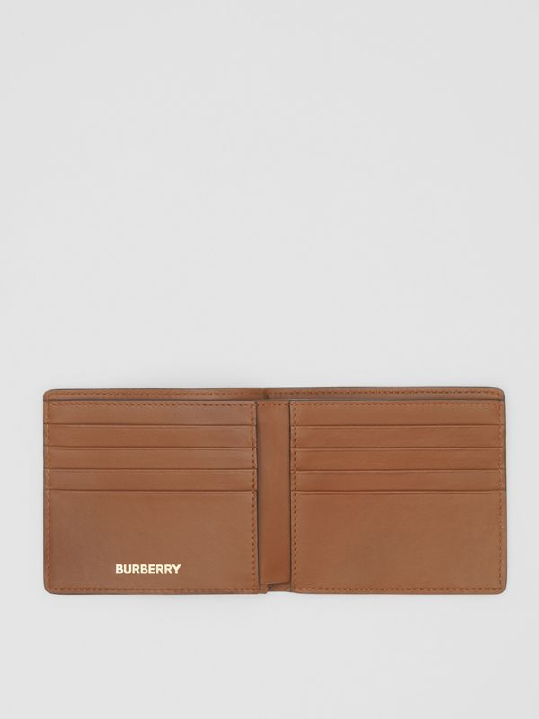 Monogram Print E-canvas International Bifold Wallet in Bridle Brown - Men | Burberry United Kingdom - cell image 3